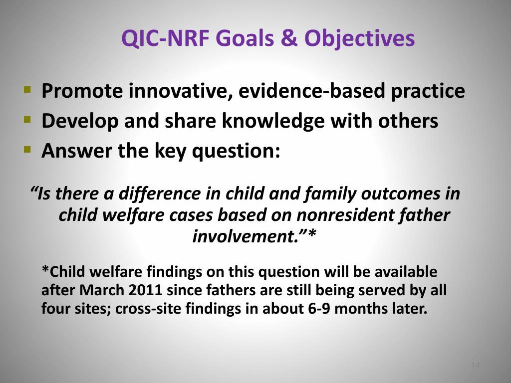 QIC-NRF Goals & Objectives