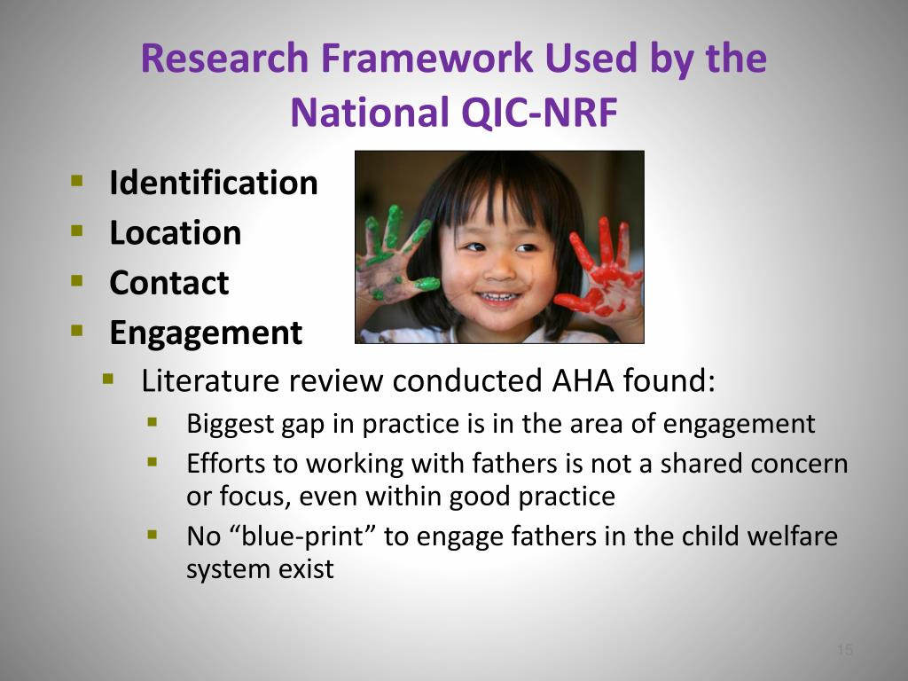 Research Framework Used by the National QIC-NRF