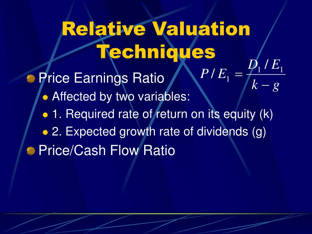 Relative Valuation Techniques