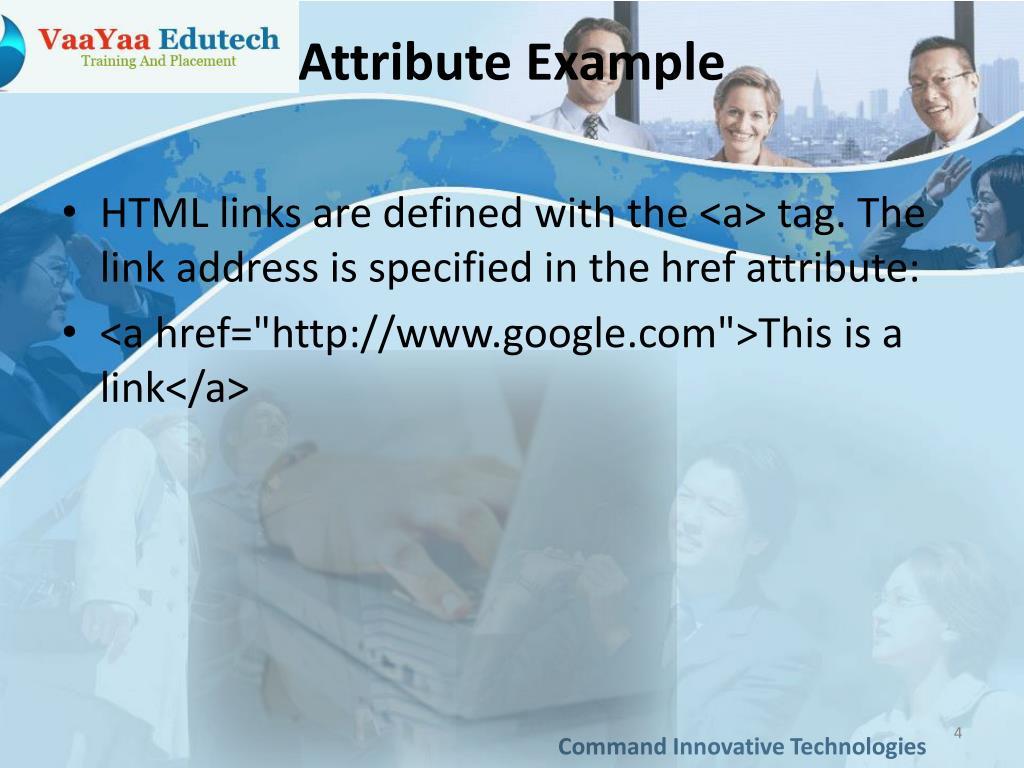 Attribute Example
