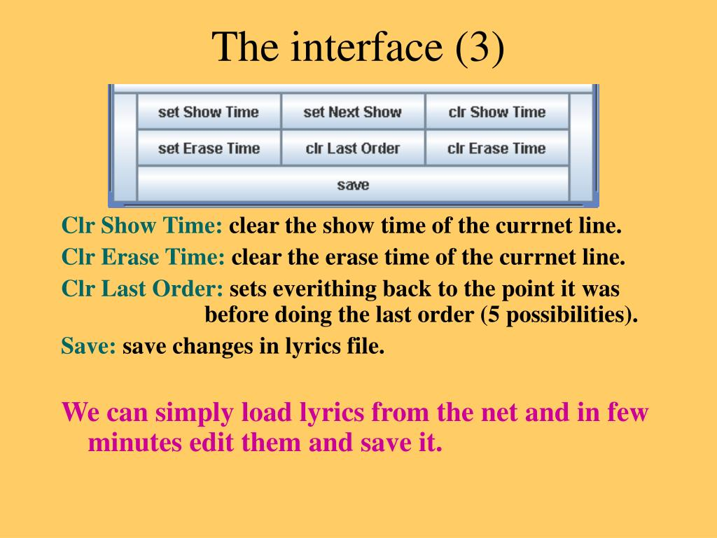 The interface (3)