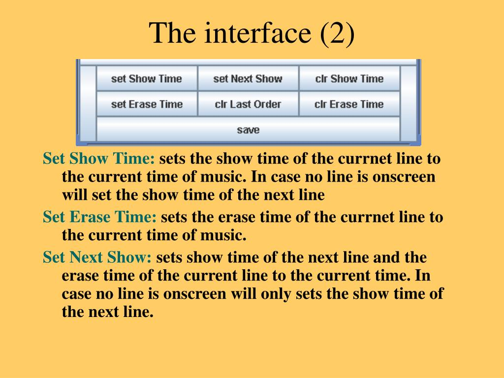 The interface (2)