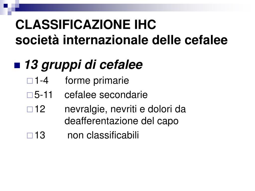 CLASSIFICAZIONE IHC