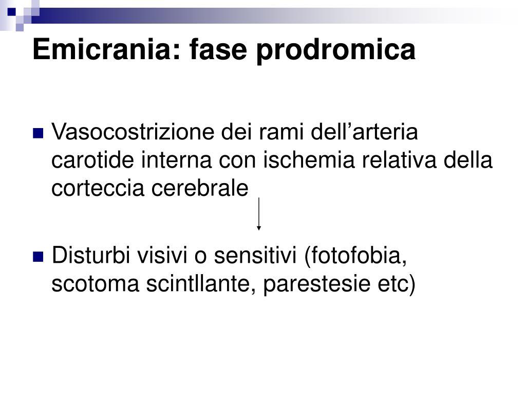 Emicrania: fase prodromica