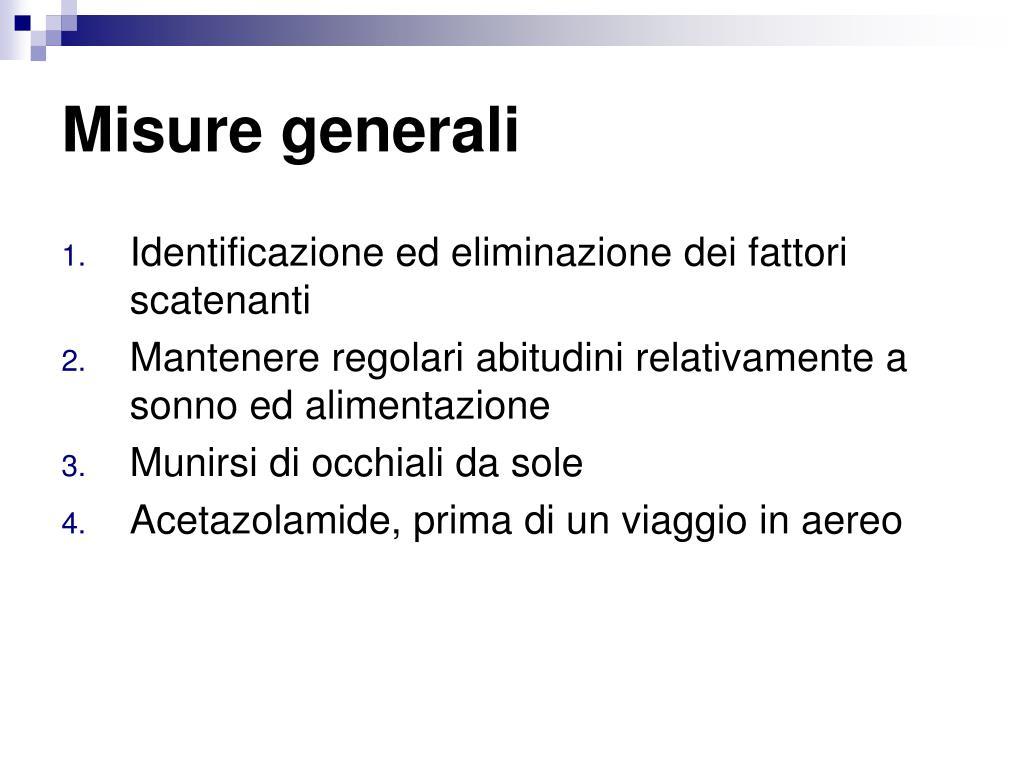 Misure generali
