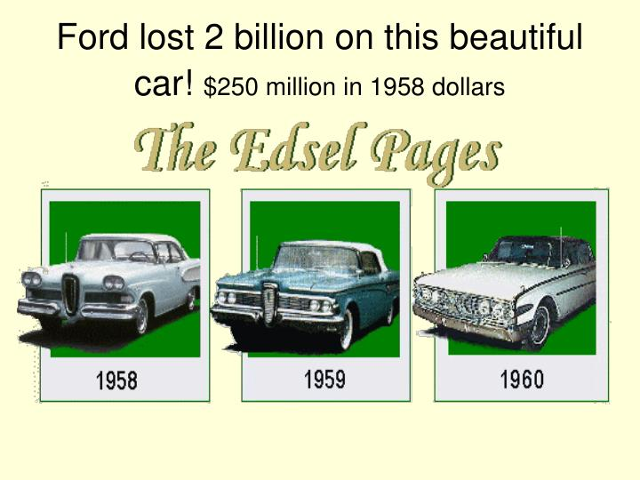 Ford lost 2 billion on this beautiful car!