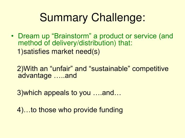 Summary Challenge: