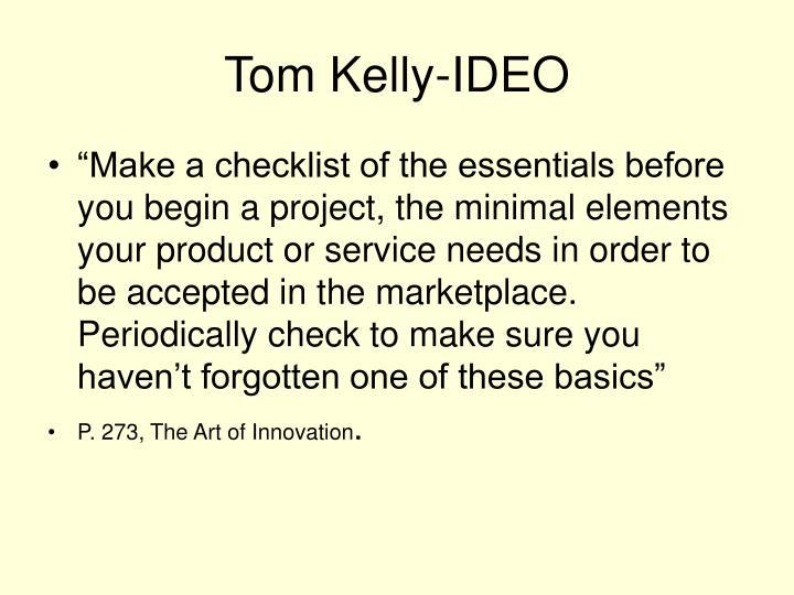 Tom Kelly-IDEO