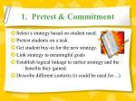 1 pretest commitment