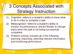 3 concepts associated with strategy instruction