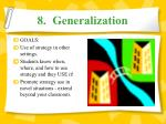 8 generalization