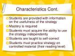 characteristics cont