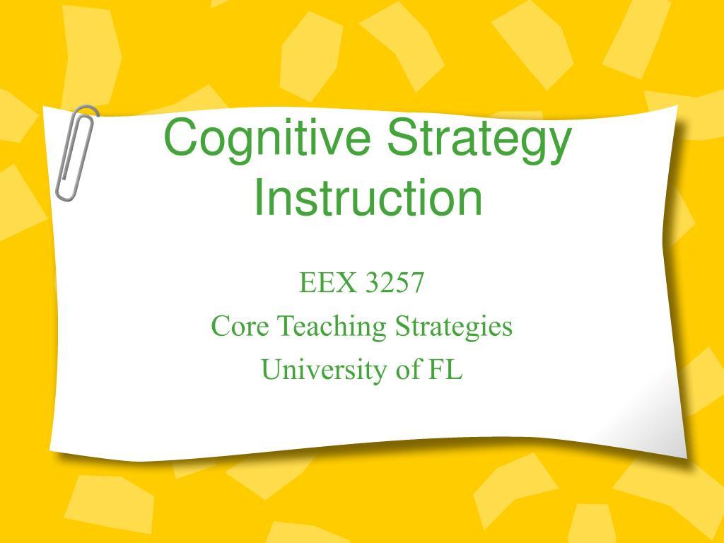 cognitive strategy instruction