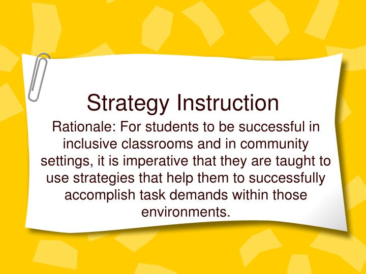 Strategy instruction l.jpg