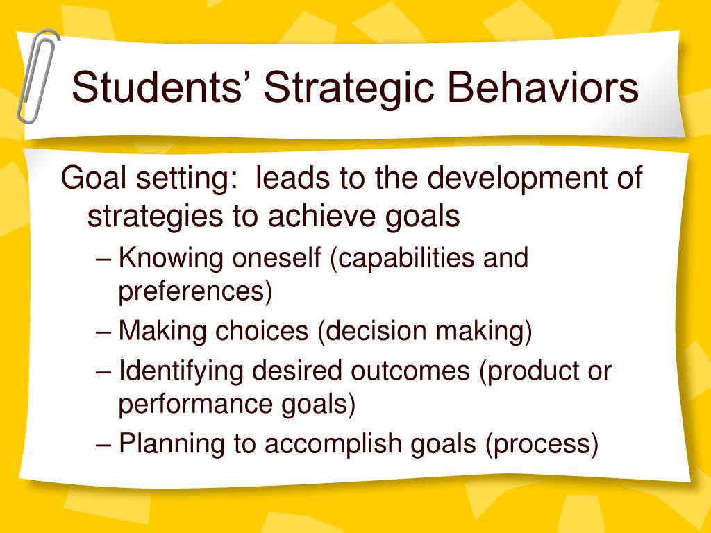 Students' Strategic Behaviors