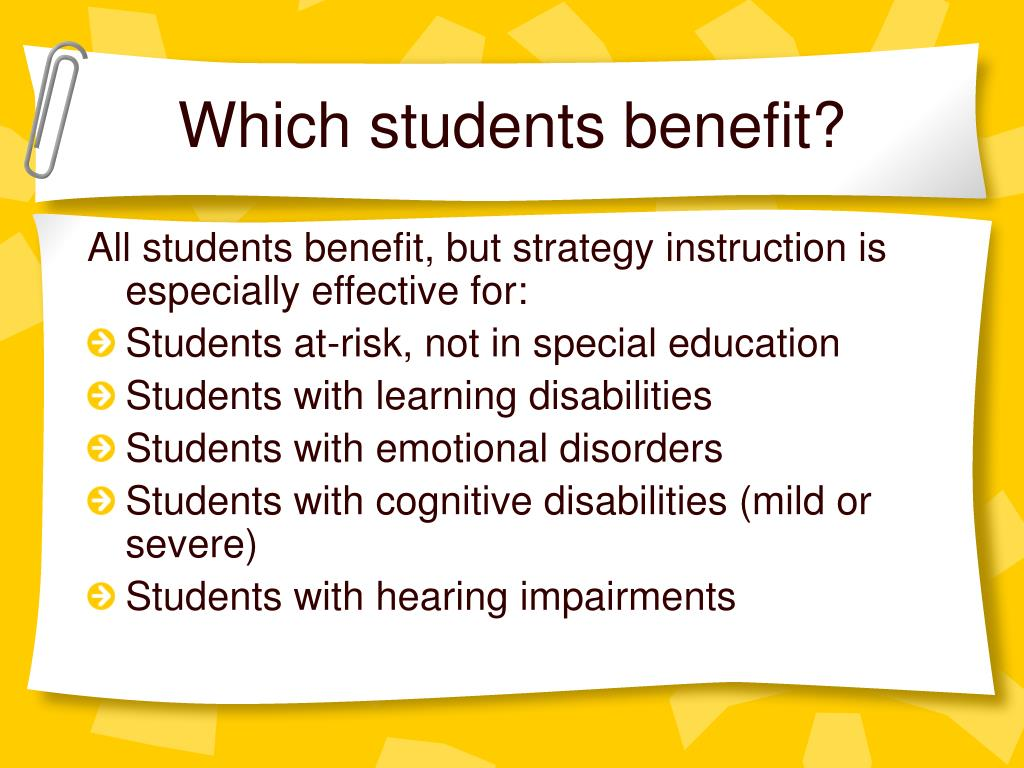 Which students benefit?