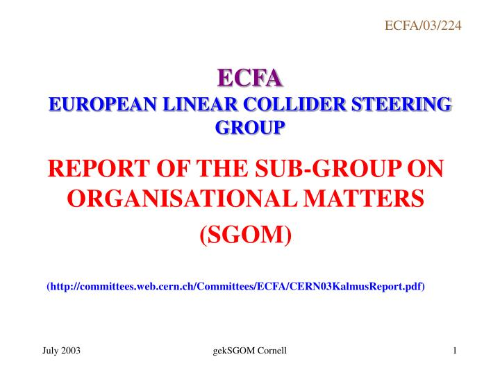 Ecfa european linear collider steering group l.jpg