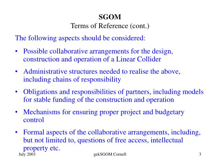 Sgom terms of reference cont