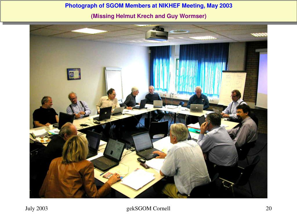 Photograph of SGOM Members at NIKHEF Meeting, May 2003