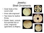 jewelry shell ornaments