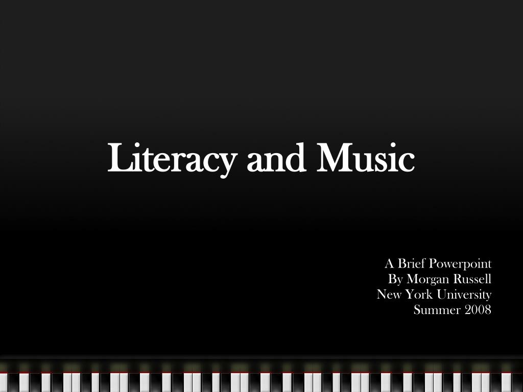 Literacy and Music