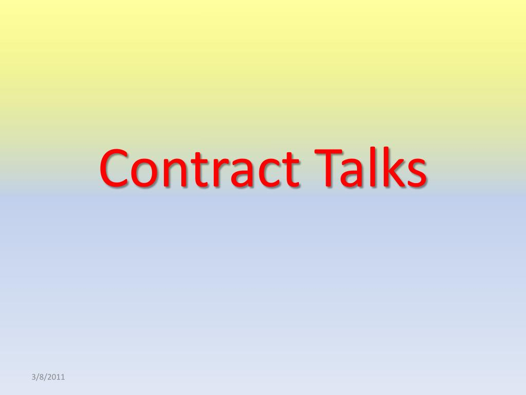 Contract Talks