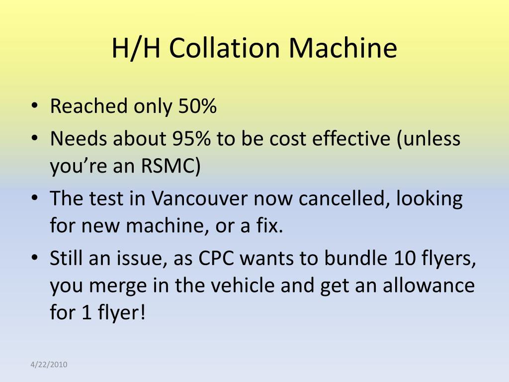 H/H Collation Machine