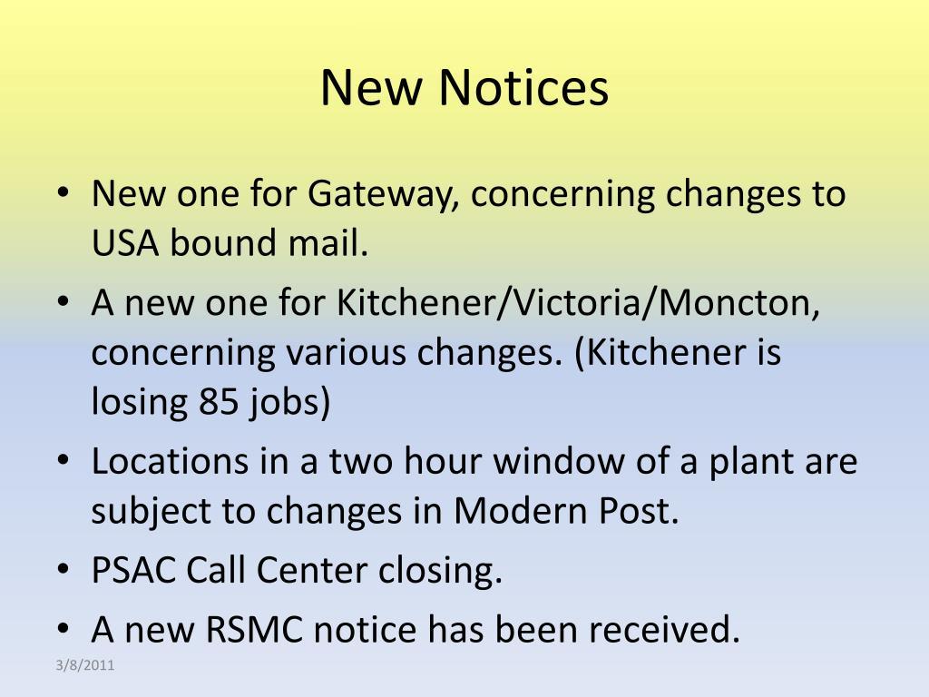 New Notices