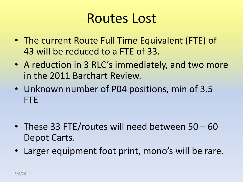 Routes Lost