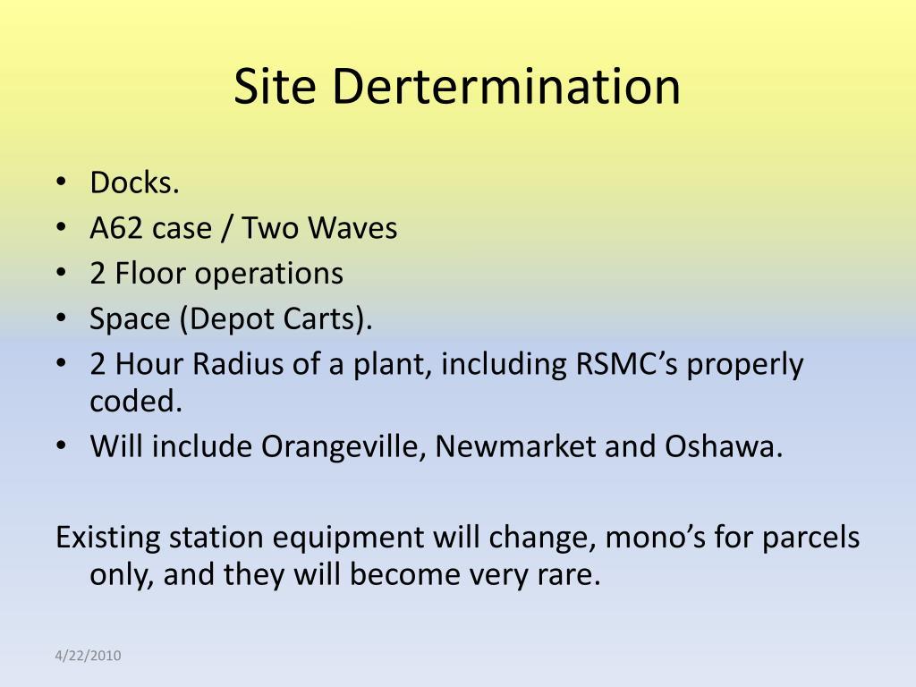 Site Dertermination