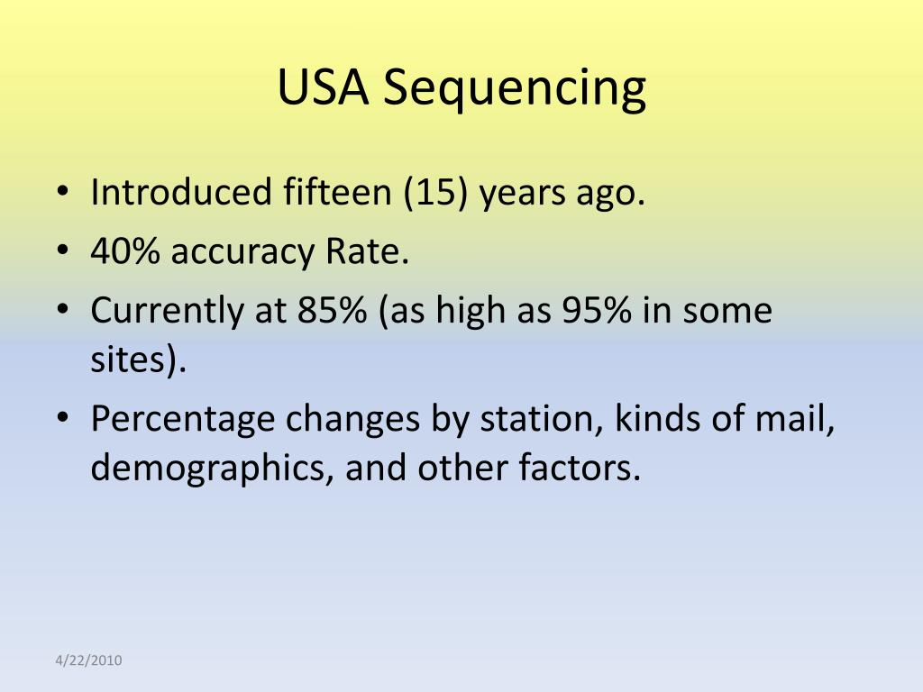 USA Sequencing