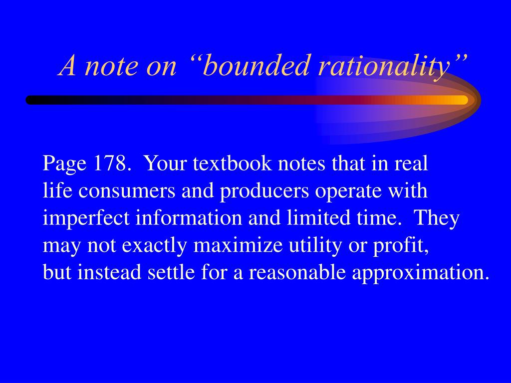 "A note on ""bounded rationality"""