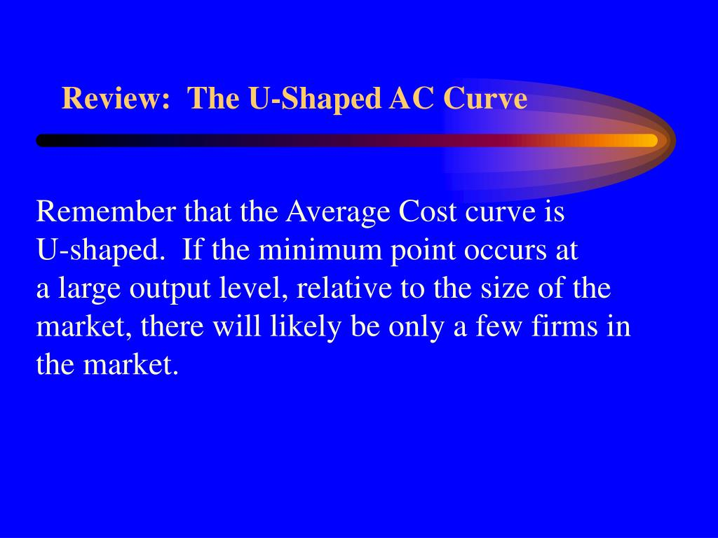 Review:  The U-Shaped AC Curve