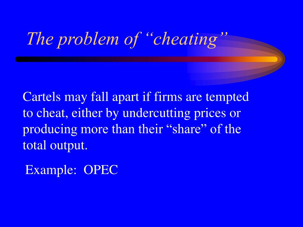 "The problem of ""cheating"""