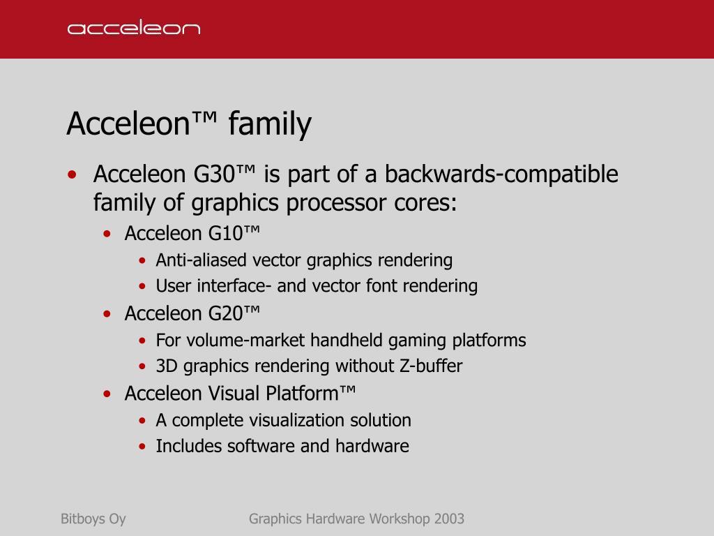 Acceleon™ family