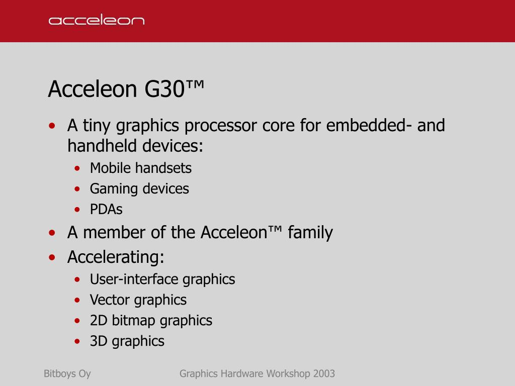 Acceleon G30™