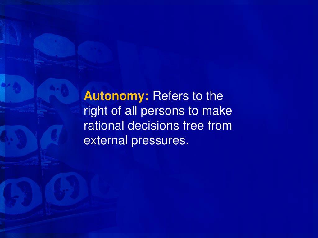 Autonomy: