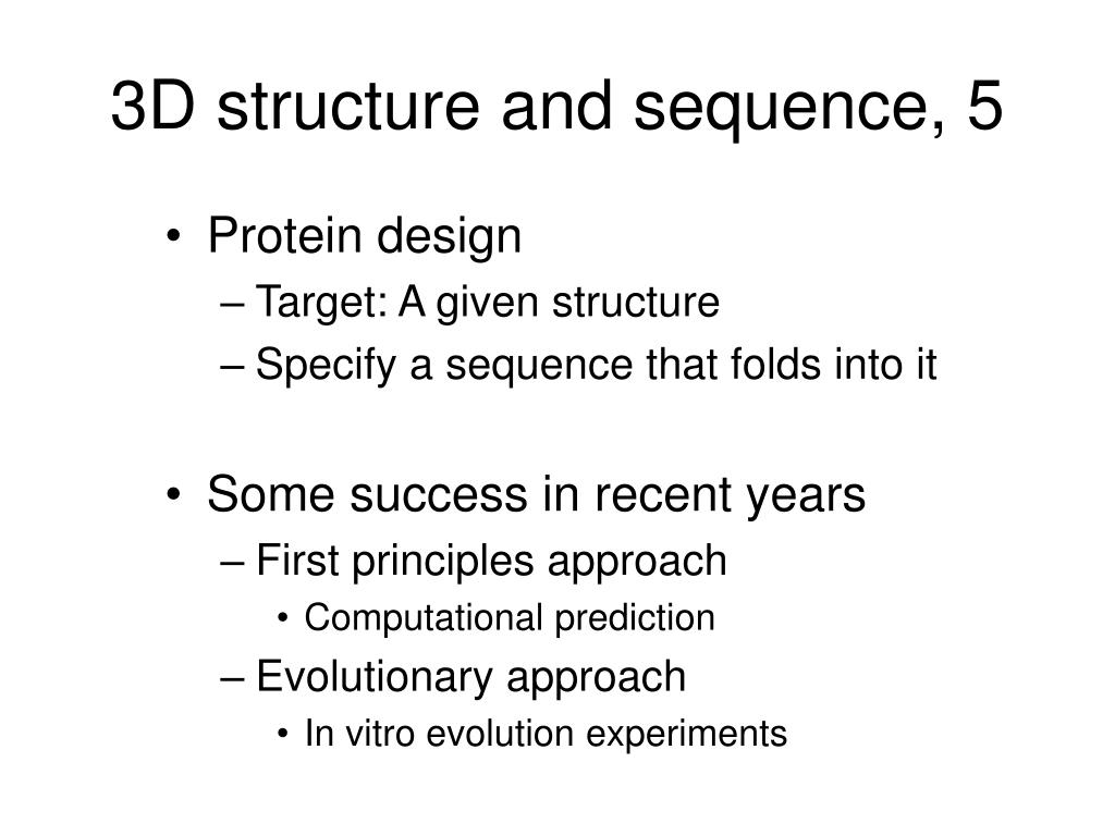3D structure and sequence, 5