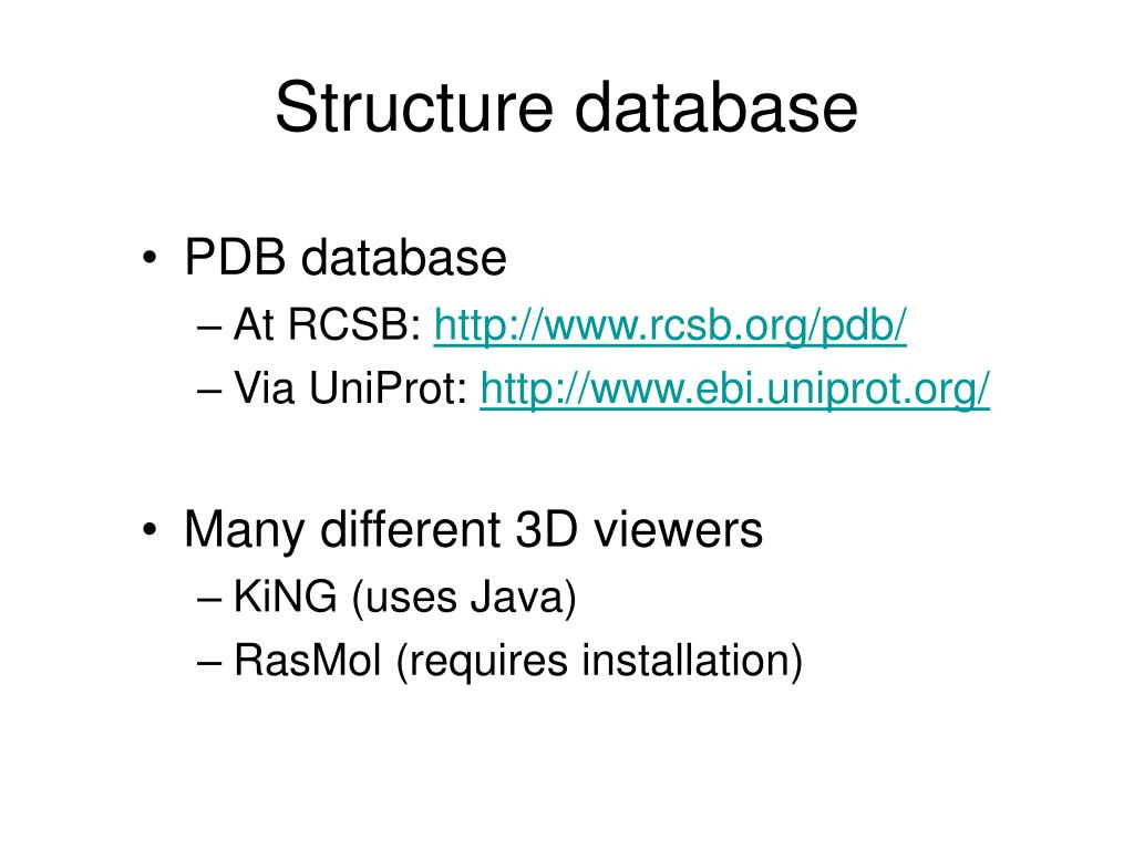 Structure database