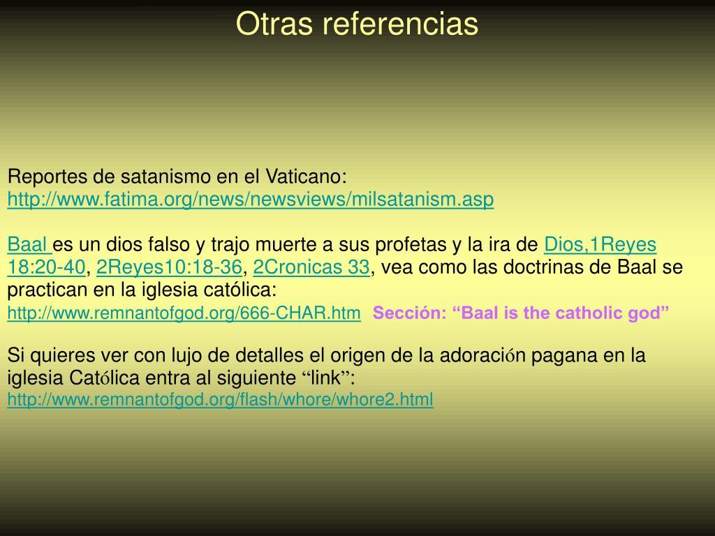 Reportes de satanismo en el Vaticano: