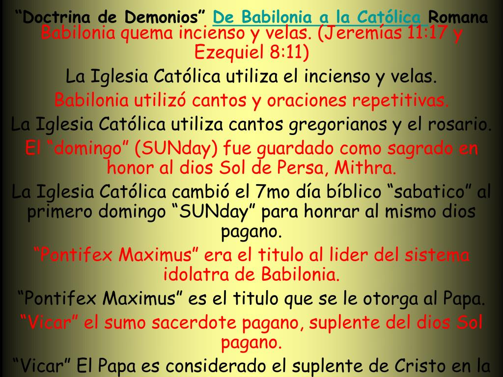 """Doctrina de Demonios"""