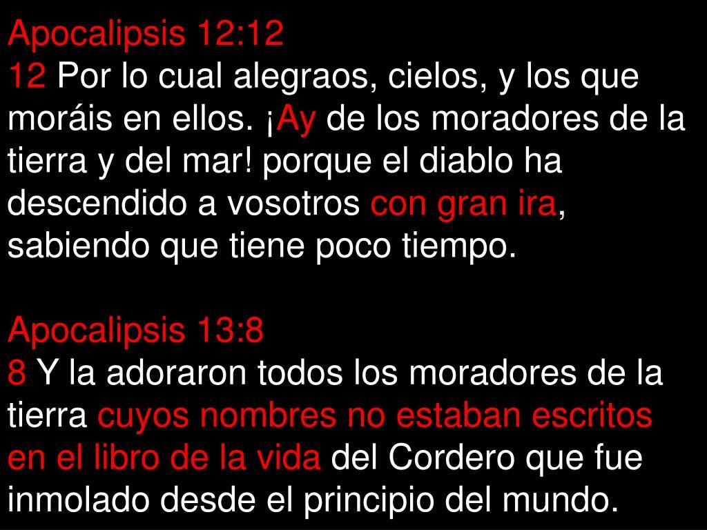 Apocalipsis 12:12