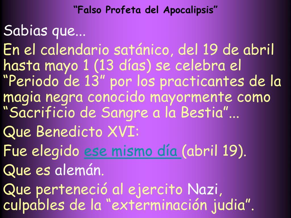 """Falso Profeta del Apocalipsis"""