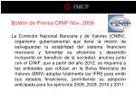 bolet n de prensa cinif nov 200814