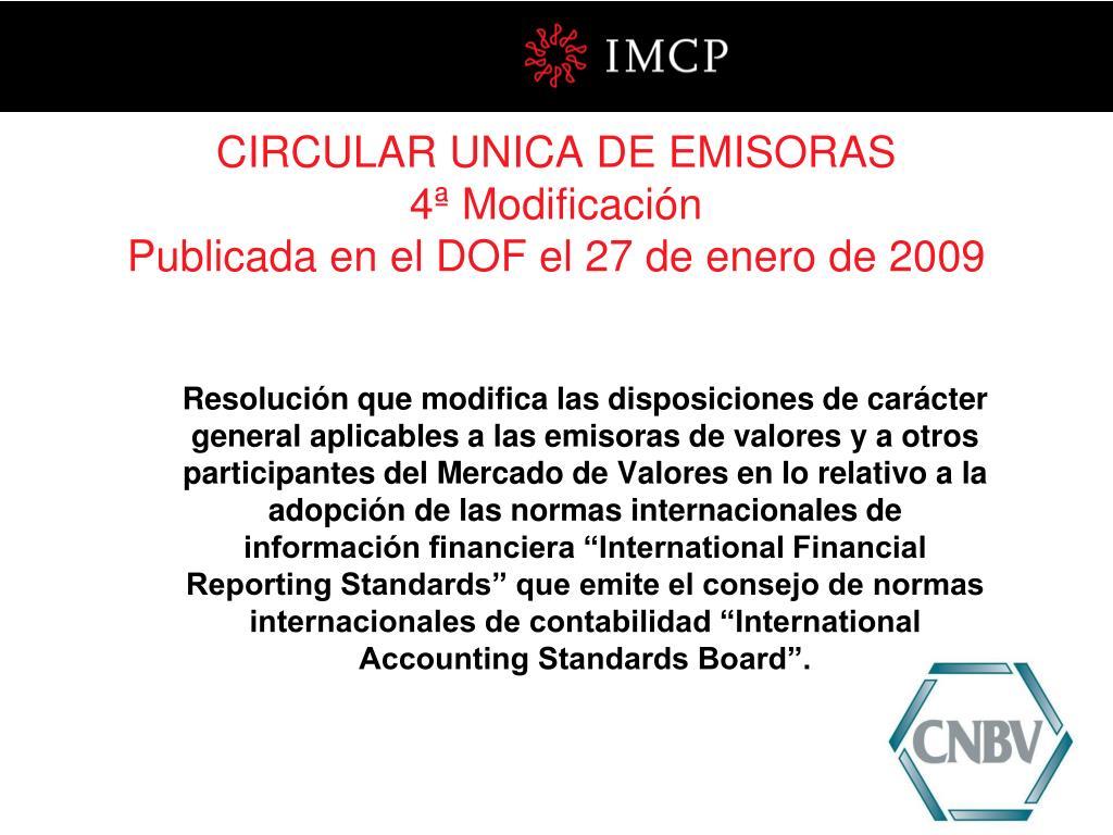 CIRCULAR UNICA DE EMISORAS