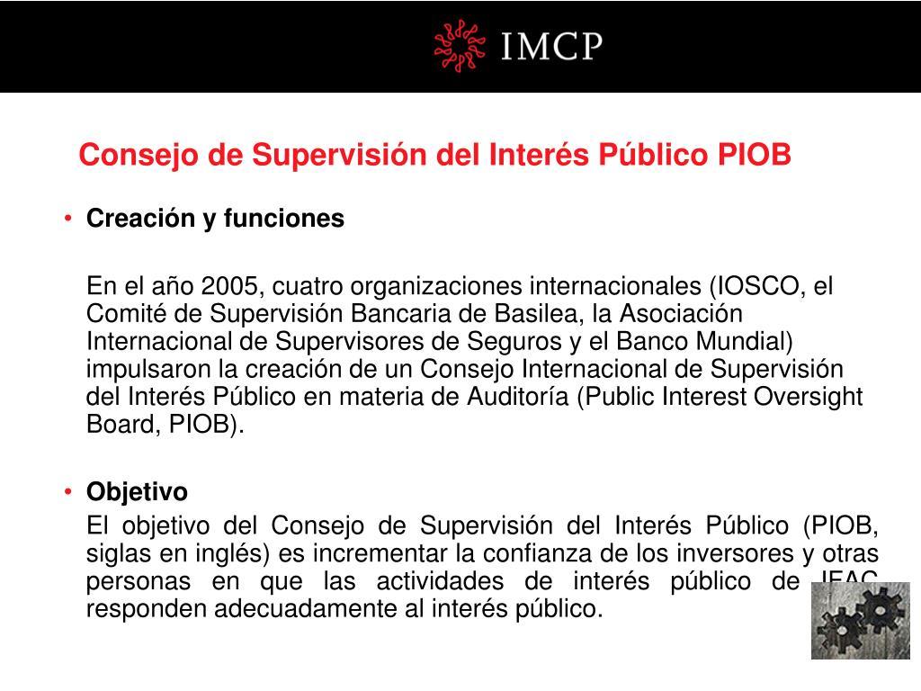 Consejo de Supervisión del Interés Público PIOB