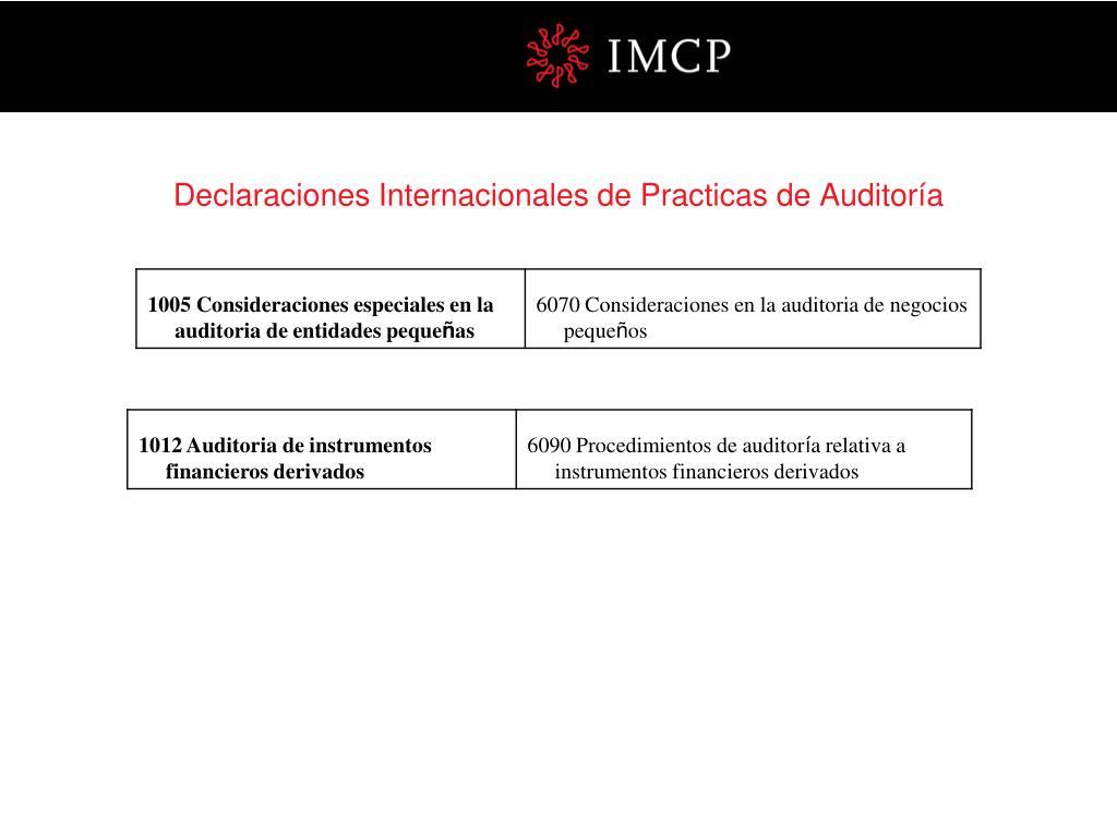 Declaraciones Internacionales de Practicas de Auditoría