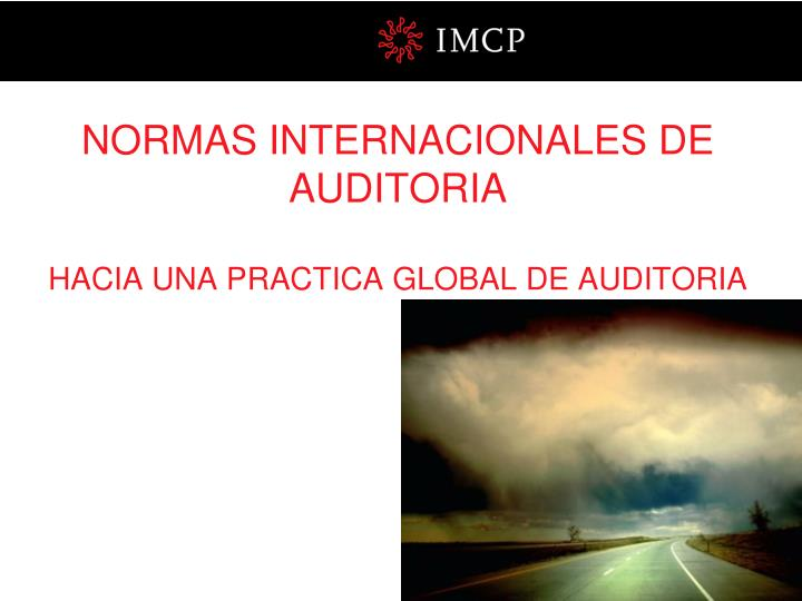 Normas internacionales de auditoria hacia una practica global de auditoria