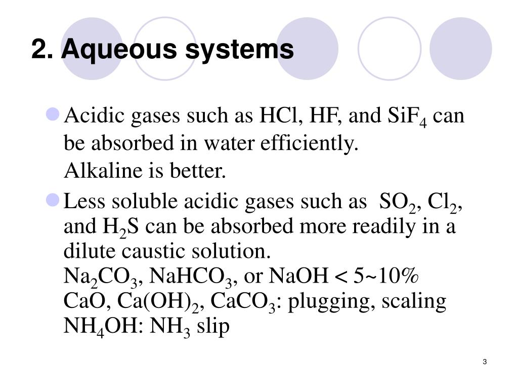 2. Aqueous systems