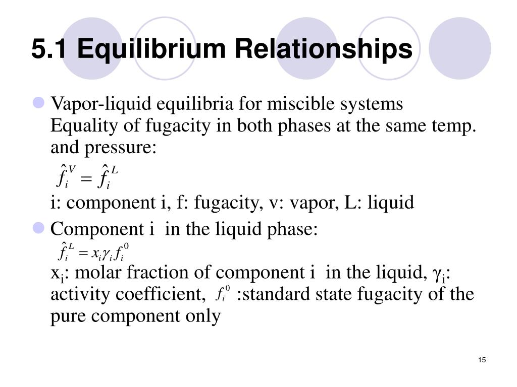 5.1 Equilibrium Relationships